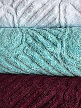 Полотенце для ног бордо 50х70, фото 3