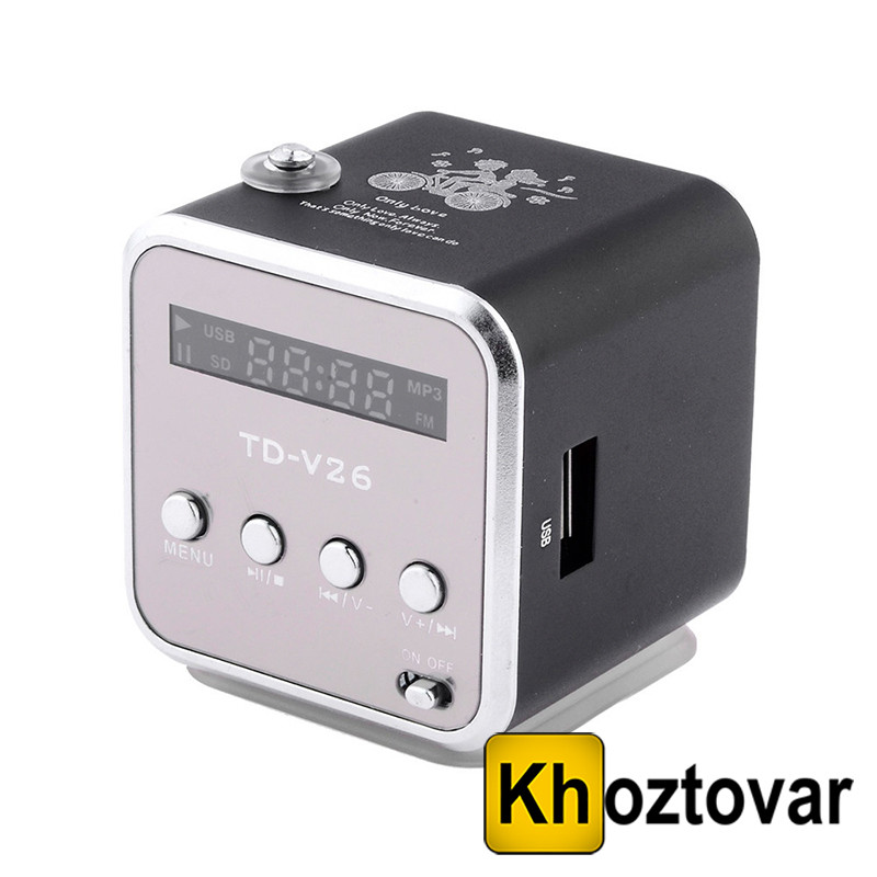 Портативная колонка TD-V26 | USB | MicroSD | FM