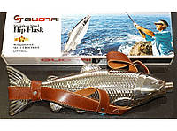 F1-48 Фляга рыба большая 540 мл в чехле