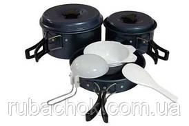 Набор посуды алюминиевым и антипригарным покрытием на 2-3 персоны Tramp
