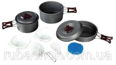 Набор посуды из анодированного алюминия на 2-3 персоны Tramp