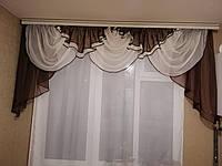 "Шифоновый ламбрекен ""Киев"" на карниз 2.5 м-3.5 м, фото 1"