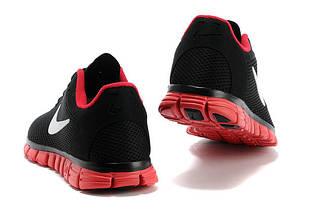Мужские Кроссовки NIKE FREE 3.0 v2  Черно/Красный, фото 2