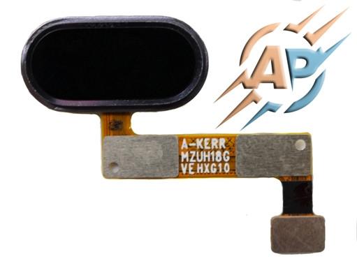 Кнопка сенсорная для  смартфона Meizu M5 note  черный