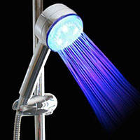 Насадка на душ подсветка для воды 3 цвета турбина, фото 1