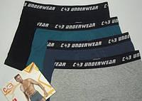 Боксеры шорты мужские стрейчевые однотонные в ассортименте спортивная резинка С+3 Польша, фото 1