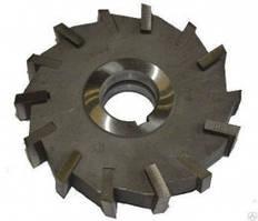 Фреза дисковая трехсторонняя ф 100х14х27 мм Р6М5 со вставными ножами разнонаправленный зуб