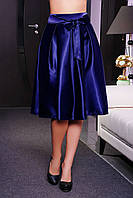 Широкая женская юбка из атласа
