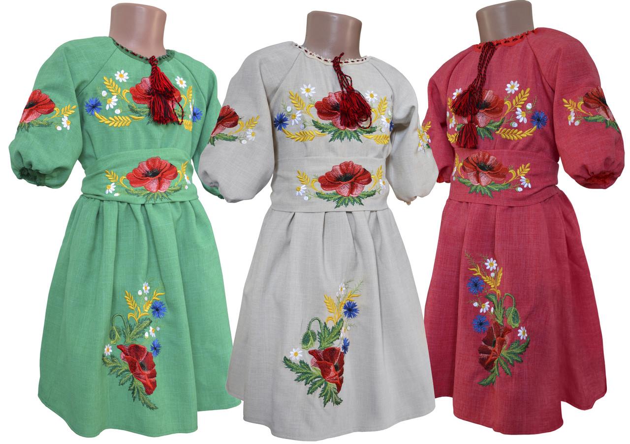 Сукня-вишиванка для дівчинки льон - НоКо в Хмельницкой области 3d332ddc31dae