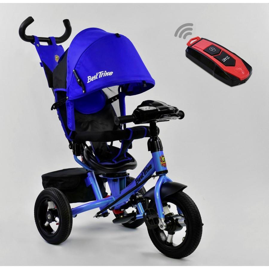 Детский трехколесный велосипед  Best Trike 6088 с пультом и поворотным сиденьем