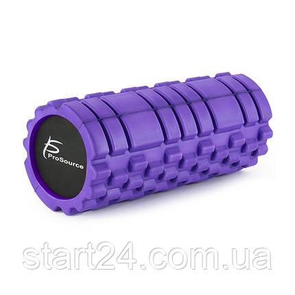 Ролик массажный профилированный ProSource Sports Medicine Roller 33 x 15 см (сиреневый), фото 2