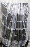 Белая тюль с вышивкой Высота 2.8 м на метраж и опт, фото 2