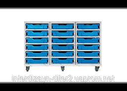 Візок металевий для зберігання дидактичного матеріалу (на 18 скринь F1)
