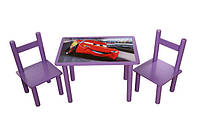 Комплект мультик: детский стол и 2 стульчика дерево ТМ Финекс Украина