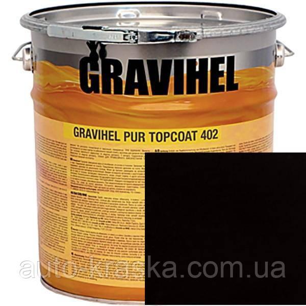 601 ЧОРНА GRAVIHEL поліуретанова емаль 402-002 напівматова 1л