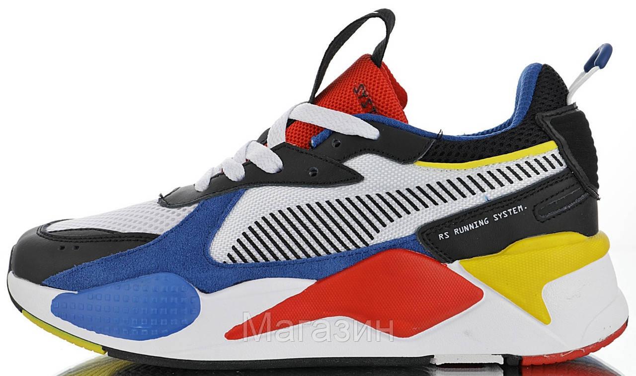 Мужские кроссовки Puma RS-X Toys White   Royal Пума в стиле белые с синим 471fe41cd52be