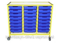 Візок металевий для зберігання дидактичного матеріалу (з 24 скринь F1)