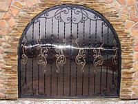 Арочные кованые ворота