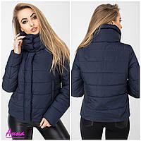 f7d9b423241 Женская короткая демисезонная куртка с воротником-стойкой tez6401186