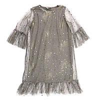 Платье нарядное с накидкой Deloras 20036, Серый, 140