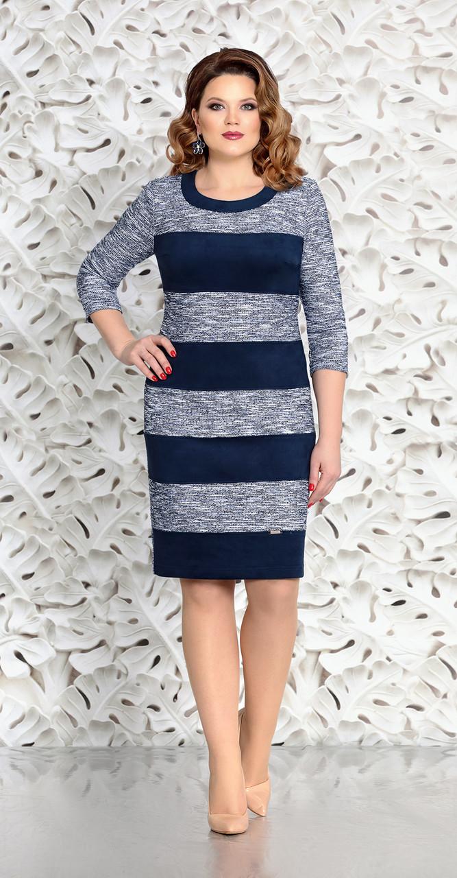 Сукня Mira Fashion-4584 білоруський трикотаж, синій, 48