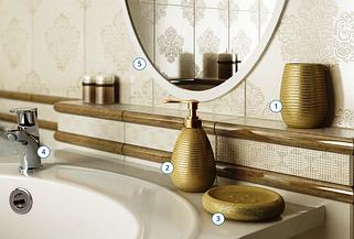 Настольный набор для ванной серии Gold(золото)