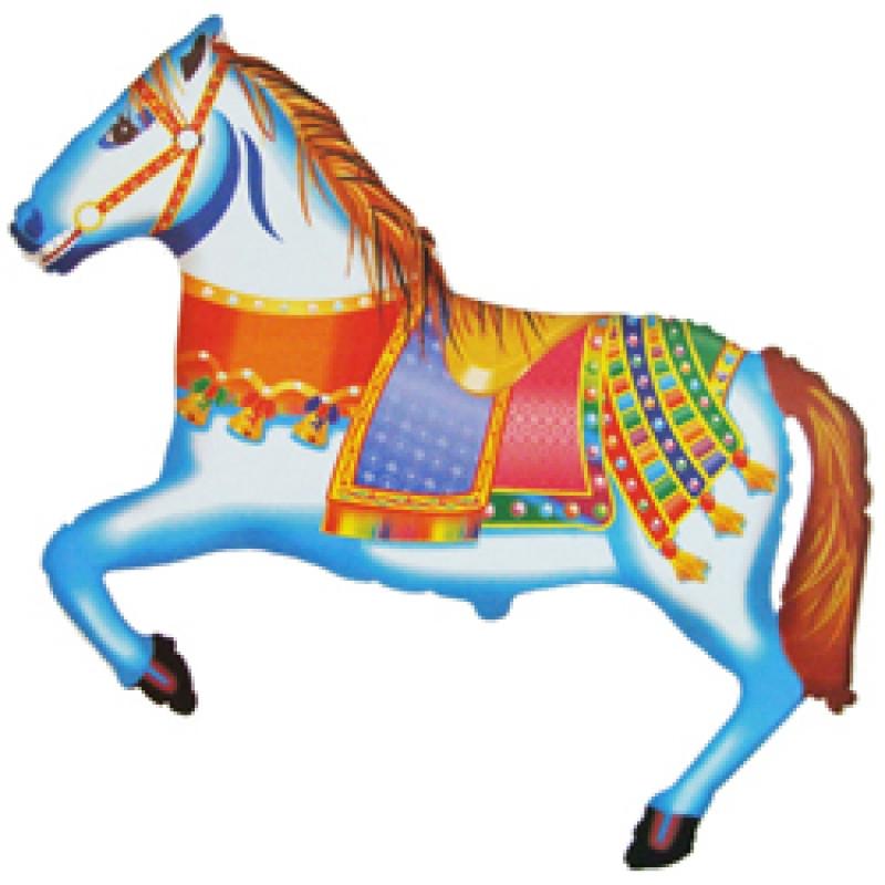 """Фольгований куля Цирковий кінь, Flexmetal (Іспанія), 29""""/75 см x 42""""/107 см"""