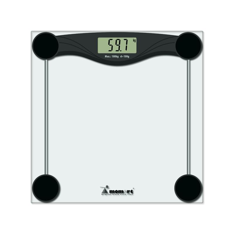 Весы электронные напольные на стеклянной платформе Momert
