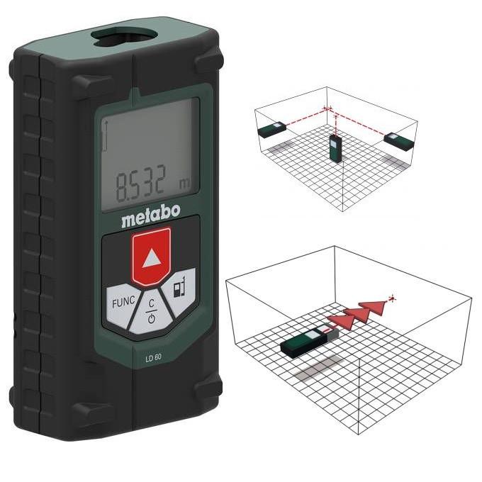 Дальномер лазерный Metabo LD 60