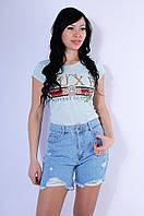 Шорты женские джинсовые голубые WST 2612