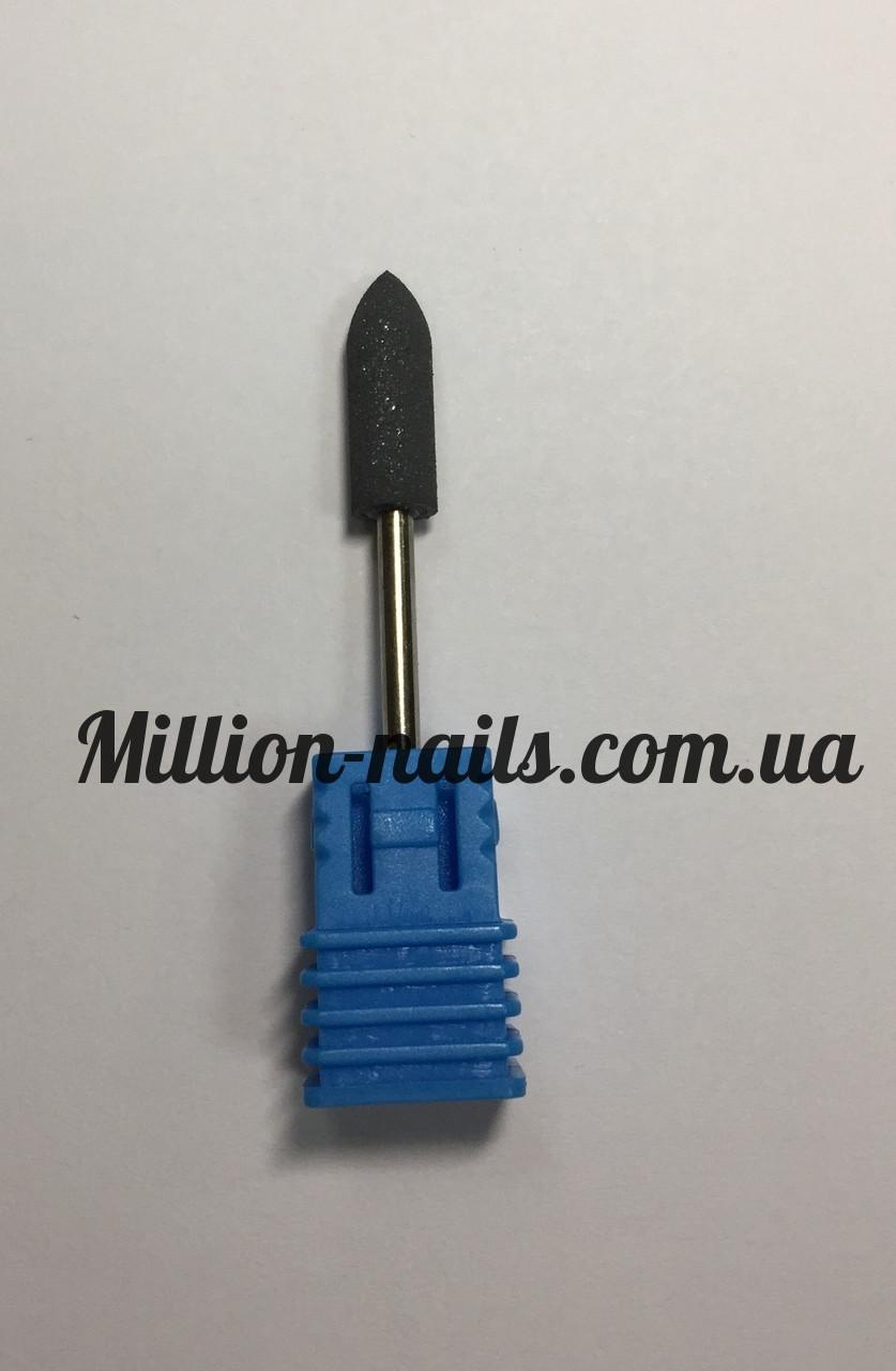 Насадка для фрезера корундовая,пуля (черная)