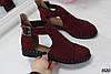 39, 41 размер Женские туфли  Zaro бордо на ремешке, натуральная замша, фото 6