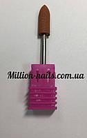 Насадка для фрезера корундовая,пуля (коричневая)