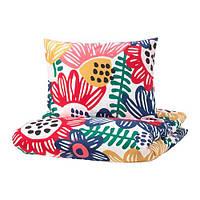 ИКЕА SOMMARASTER, 404.233.14 Комплект постельного белья, разноцветный, 150x200/50x60 см