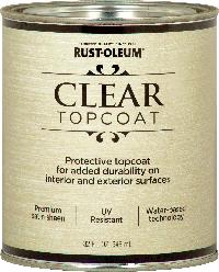 Лак акриловый, полуматовый, Rust-Oleum Clear Topcoat, 0,946л