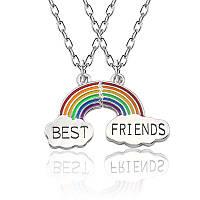 """Парные кулоны для друзей Радуга """"best friends"""""""