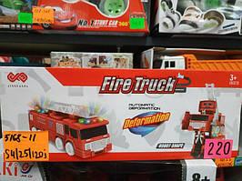 Машина трансформер Пожарная на батарейках 5168-11