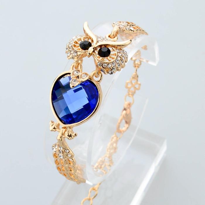 """Красивый браслет """"Сова"""" blue"""