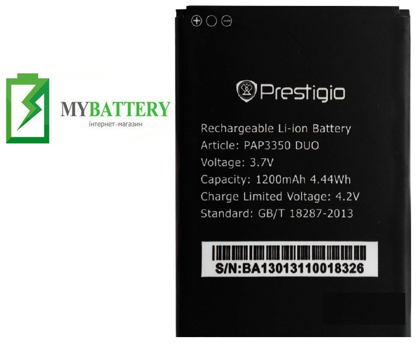 Оригинальный аккумулятор АКБ батарея Prestigio PAP3350