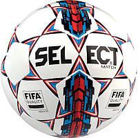 Мяч Футбольный Select Match FIFA New бело-синий, р. 5, ламинированный
