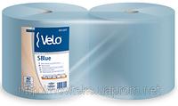 Бумага протирочная VELO SBlue 851207 в рулонах синяя 3х слойна 700отрывов