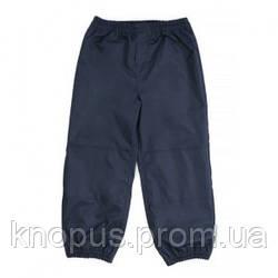 Детские  штаны непромокаемые на трикотажной подкладке, темно-синие,  NANO