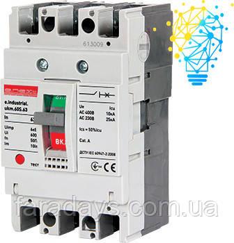 Шафовий автоматичний вимикач 3р, 63А (e.industrial.ukm.60S.63)