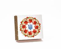 Шкатулка-книга на магните с 4 отделениями Українське коло