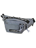 Мужская сумка бананка на пояс Lanpad Р4-301 на 2 отдела нейлон 28*12*9см