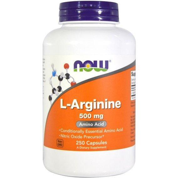 Амінокислота NOW Foods L-Arginine 500 mg