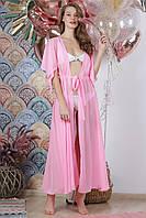 Длинная пляжная туника, цвет - нежно-розовый.
