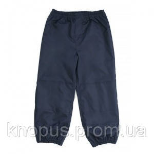 Детские  штаны непромокаемые на трикотажной подкладке, темно-синие, темно-серые, NANO, размерs 80-140