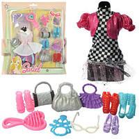 Наряд для куклы, сумочка, обувь, 2 вида, на планш. 25*27*3см (72шт)(3315-B-A)