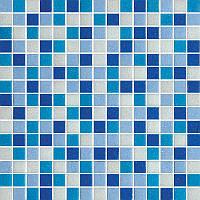 Мозаика стеклянная 2х2см микс MDA346